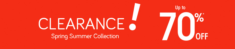 Clearance! Up to 70%* OFF selected items