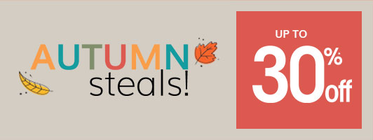 Autumn steals! Up to 30% off