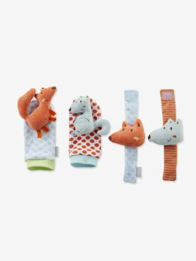 Toys-Stimulating games and rattles-Rattling Bootees & Bracelet Set