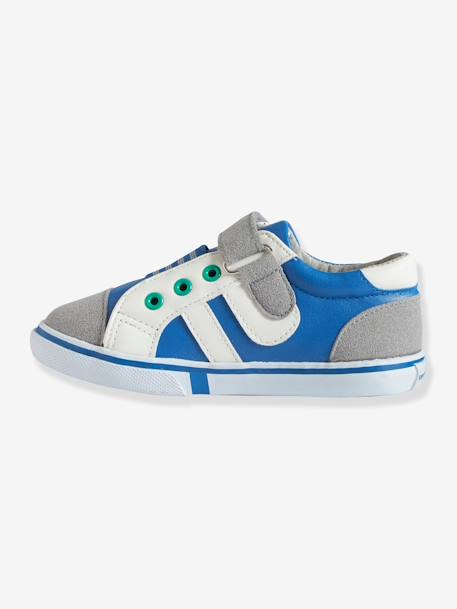 Boys Low Top Trainers Blue+Green+Orange - vertbaudet enfant