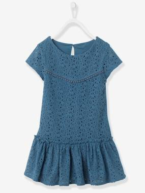 Navy spirit - Vertbaudet Fashion specialist for kids and baby : clothing, shoes and accessories-Girls Lined Lace Dress
