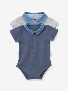New collection-Baby-Pack of 2 Baby Bodysuits with Polo Collar
