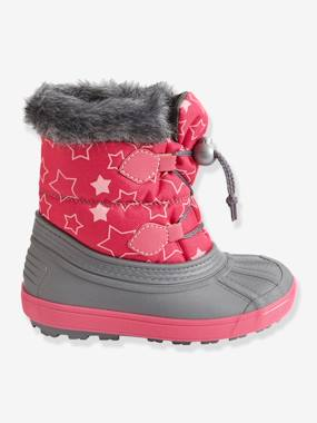 Shoes-Girls' Lace-Up Snow Boots with Fur Lining