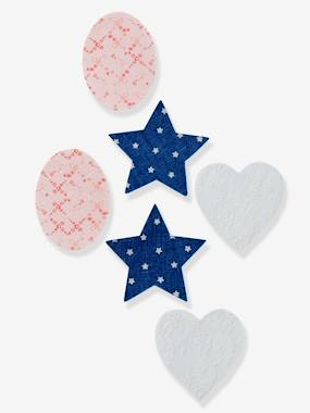 accessories girl boy baby-Pack of 6 Girls Iron-on Patches