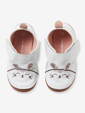 Sale summer-Shoes-Baby Girls Non-Slip Leather Slippers with Ears