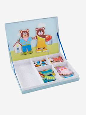Toys-Games-Magnetic Dress-up Bears Game