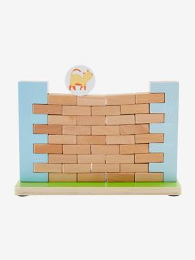 Toys-Games-Wooden Build a Wall Game