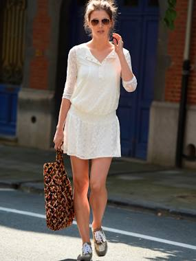 Maternity-Adaptable Maternity & Nursing Lace Dress