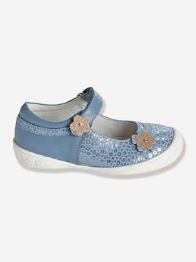 Shoes-Girls Footwear 23-38-Ballerina Shoes-Girls Leather Mary Jane Shoes With Touch N Close Fastening, Designed For Autonomy