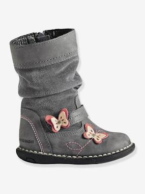 Shoes-Girls' Bi-Material Boots