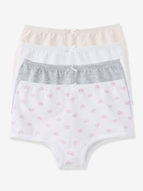 Girl-Underwear-Pack of 4 Shorties
