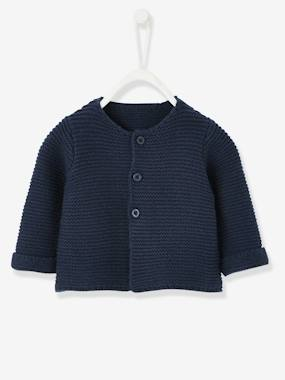 New Collection Fall Winter - Vertbaudet | Quality French Clothes for Babies & Children-Baby-Baby's Garter Stitch Knit Cardigan