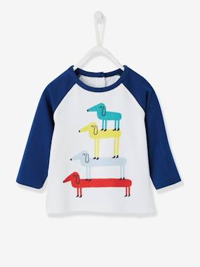 New Collection Fall Winter - Vertbaudet | Quality French Clothes for Babies & Children-Baby Boys' Dog Print T-Shirt