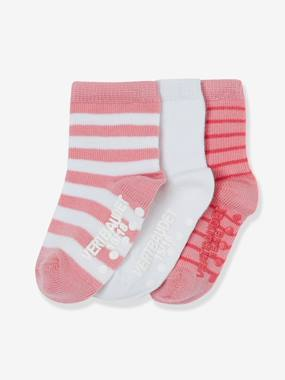 Baby-Socks, Tights-Pack of 3 Pairs of Non-Slip Baby Socks