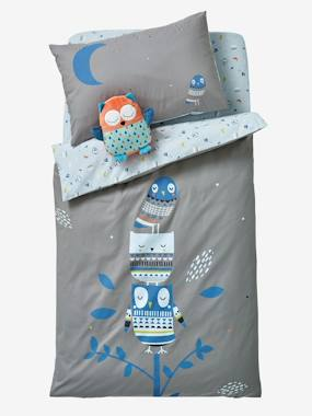 Bedroom-Baby Duvet Cover, Hey Owl! Theme