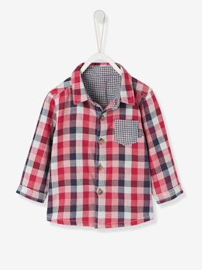 New Collection Fall Winter - Vertbaudet | Quality French Clothes for Babies & Children-Baby's Checked Shirt