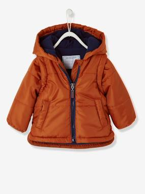 Baby-Coat, all-in-one, sleepbag-Baby Boys' Padded Jacket with Detachable Sleeves