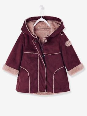 New Collection Fall Winter - Vertbaudet | Quality French Clothes for Babies & Children-Baby-Baby Girls' 2-in-1 Faux Shearling Coat