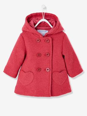 Baby-Coat, all-in-one, sleepbag-Baby Girls' Woollen Coat