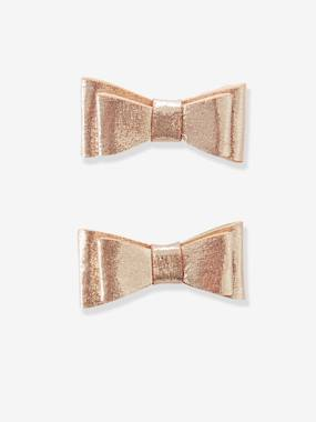 Girl-Accessories-Pack of 2 Clips with Bow