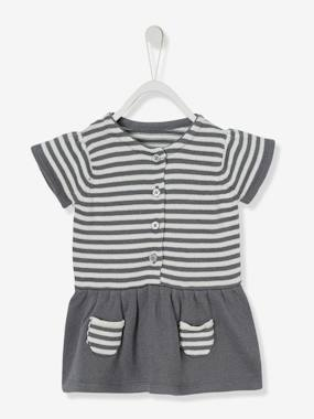 Baby-Short-Baby Girls' Knitted Dress