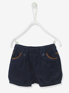 New Collection Fall Winter - Vertbaudet | Quality French Clothes for Babies & Children-Baby-Baby Girls' Corduroy Shorts
