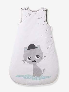 Bedroom-Baby's bedding-Baby sleep bag-Sleeveless Sleep Bag, Cat Theme