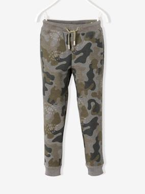New Collection Fall Winter - Vertbaudet | Quality French Clothes for Babies & Children-Boys' Camouflage Print Fleece Trousers