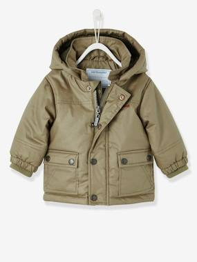 Baby-Coat, all-in-one, sleepbag-Baby Boys' Parka with Fleece Lining & Hood