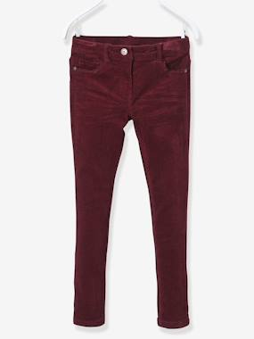 bas-NARROW Fit - Girls' Velvet Slim Trousers