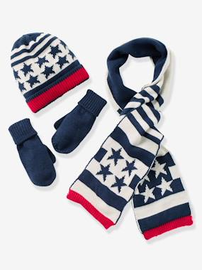 Boy-Boys' Beanie, Scarf & Gloves or Mittens