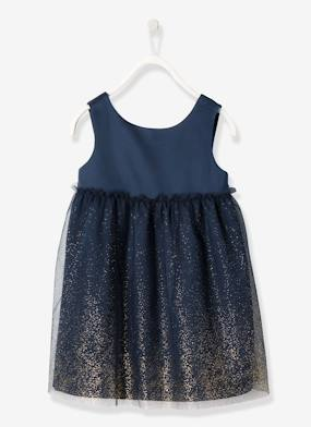 haut-Girls' Satin & Tulle Dress