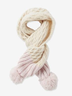 Girl-Accessories-Girls' Two Tone Knit Scarf