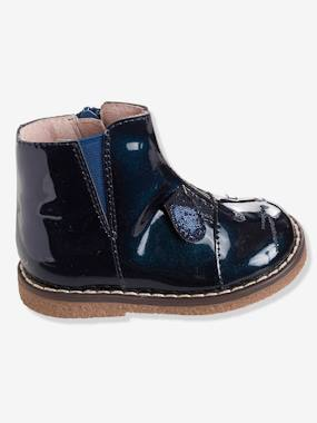 Shoes-Baby Footwear-Baby Girl walking 19-26-Girls' Patent Leather Boots