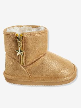 Shoes-Baby Footwear-Baby Girl walking 19-26-Girls' Boots with Fur