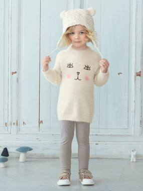 New Collection Fall Winter - Vertbaudet | Quality French Clothes for Babies & Children-Girl-Girls' Knit Jumper & Leggings Set