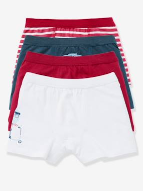 New Collection Fall Winter - Vertbaudet | Quality French Clothes for Babies & Children-Boys' Pack of 4 Boxer Shorts