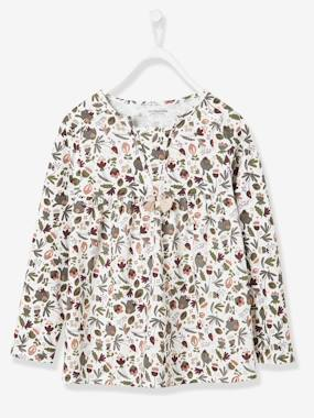 Girl-T-shirt-Girls' Blouse-Style T-Shirt