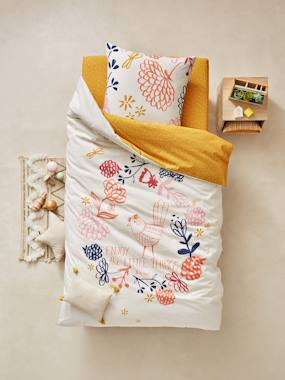 Bedroom-Children's Duvet Cover &  Pillowcase Set, Floral Theme