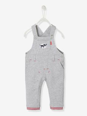 Baby-Dungaree, playsuit-Baby Boys' Lined Fleece Dungarees