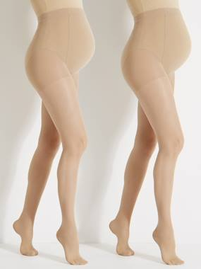 Maternity-Pack of 2 Maternity Voile Tights