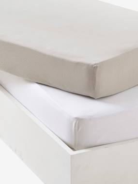 Sale summer-Bedroom-Pack of 2 fitted sheets