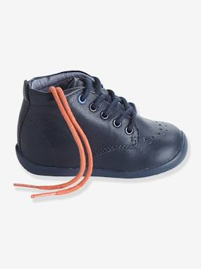 New collection-Shoes-Boys' Leather Ankle Boots, Designed for First Steps