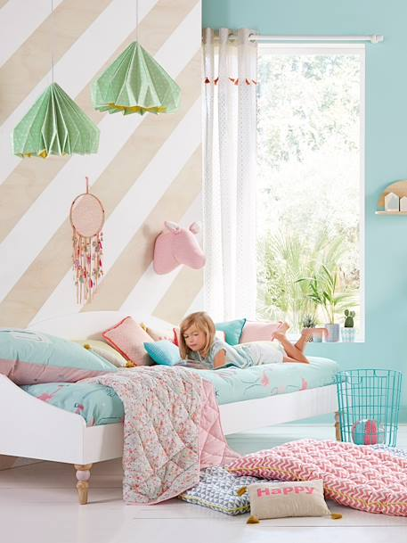 Duvet Cover + Pillowcase Set, Summer Flamingo Theme, Bedroom