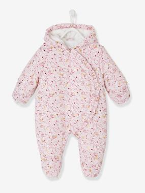 Baby-Printed Pramsuit, Warm Lining, for Babies