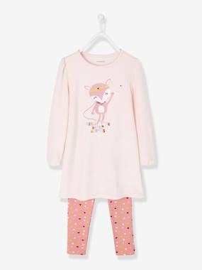 Girls-Nightwear-Velour Nightdress + Leggings for Girls