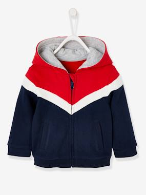 Baby-Jumpers, Cardigans & Sweaters-Sweaters-Jacket with Hood & Zip for Boys