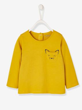 Vertbaudet Basics-Long-Sleeved Top, for Baby Girls