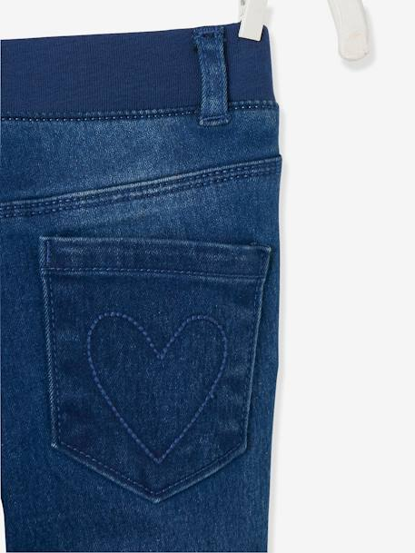 NARROW Hip Slim Jeans for Girls BLUE MEDIUM SOLID - vertbaudet enfant