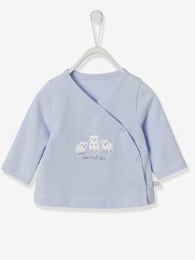 Baby-T-shirts & Roll Neck T-Shirts-Wrap-Over Jacket for Newborn Babies
